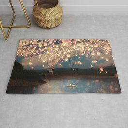 Love Wish Lanterns Rug