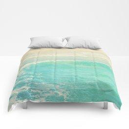 beach ocean wave. Surge. Hermosa Beach photograph Comforters