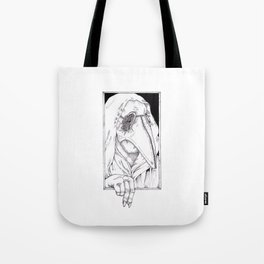 Maggot mask. Tote Bag