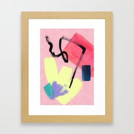 Go Sweetie - abstract painting pink modern Framed Art Print