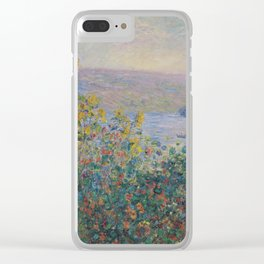 Claude Monet - Flower Beds At Vetheuil Clear iPhone Case