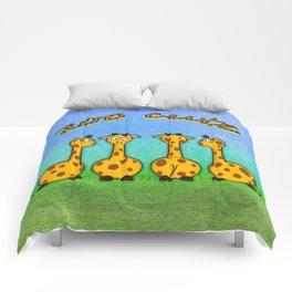 zoo cute giraffes Comforters