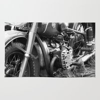 motorcycle Area & Throw Rugs featuring motorcycle by Falko Follert Art-FF77
