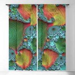 fractal art colorful pattern Blackout Curtain