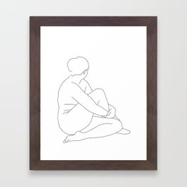 Nude life drawing figure - Brit Framed Art Print