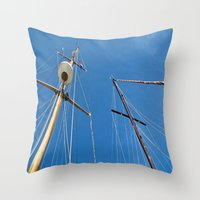 sail Throw Pillows featuring Sail by M. Gold Photography