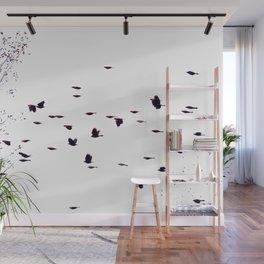 redwings in flight Wall Mural