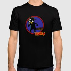 Perry The Platypus as Dick Tracy Black 2X-LARGE Mens Fitted Tee