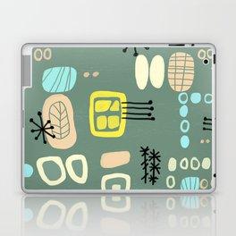 Mid Century Mod Digital Bark cloth Laptop & iPad Skin