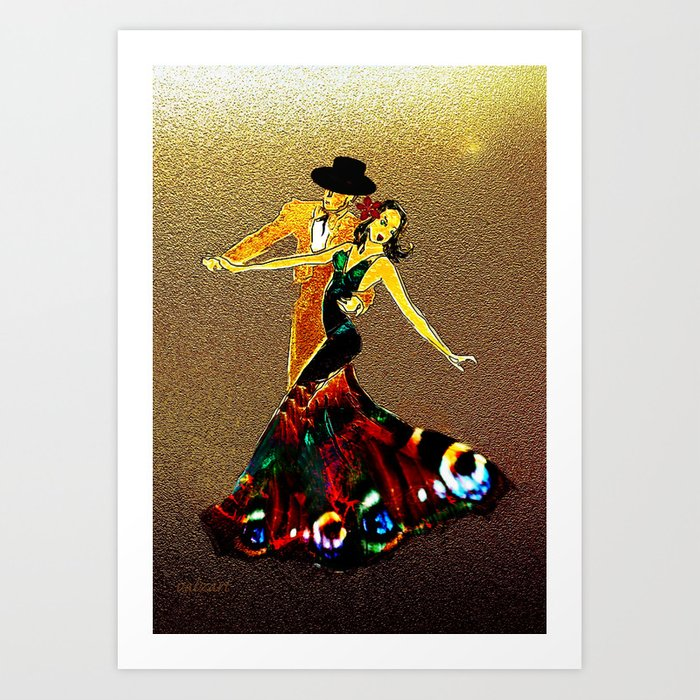 DANCERS - La Fiesta Art Print