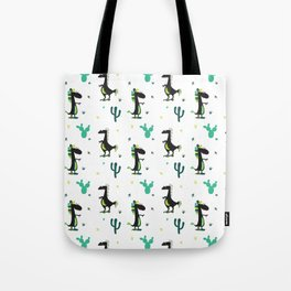 Cute Desert Dinosaurs (white) Tote Bag
