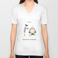 alcohol V-neck T-shirts featuring F10.10 - Alcohol abuse, uncomplicated by Sicko