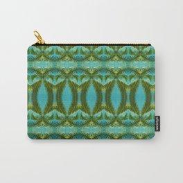 Palm Leaf Kaleidoscope (on blue sky) #2 Carry-All Pouch