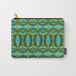 Palm Leaf Kaleidoscope (on blue sky) #2 Carry-All Pouch