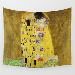 The Kiss, Gustav Klimt Wall Tapestry
