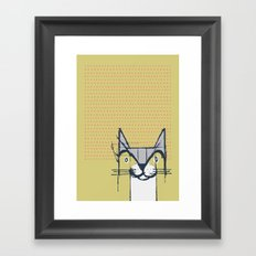 Cubist Cat Study #6 by Friztin Framed Art Print