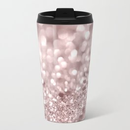 Sparkling Rose Gold Blush Glitter #1 #shiny #decor #art #society6 Travel Mug
