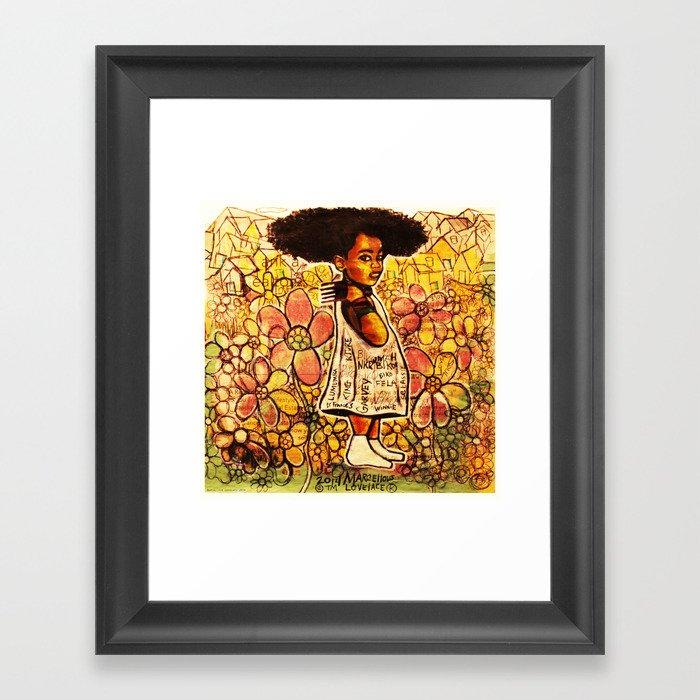 2014 Intelligent Black Child ( never let your oppressor judge you ) Framed Art Print