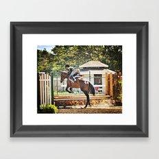 Equestrian love Framed Art Print