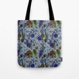 Bleu Foliage Tote Bag