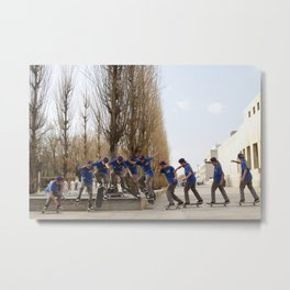 Skateboarding Portugal Metal Print