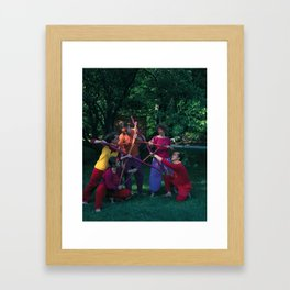 5 of Wands Framed Art Print