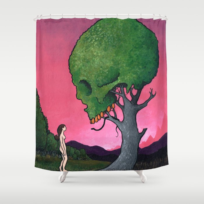 Low-Hanging Fruit Shower Curtain