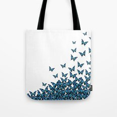 Blue Butterfly Light Tote Bag