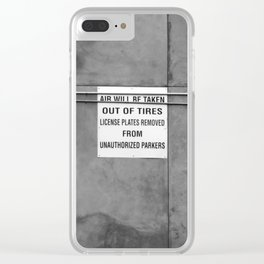 Intimidation Clear iPhone Case