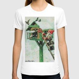 """Feeding Winter Birds"" Elves by Jenny Nystrom T-shirt"