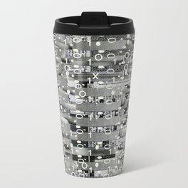 Knowing Wink (P/D3 Glitch Collage Studies) Metal Travel Mug