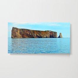 Le Rocher Perce panoramic Metal Print