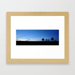 Four Sunset Silhouettes Framed Art Print