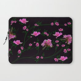 Pink flower clipping Laptop Sleeve