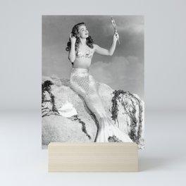 Vintage Mermaid : Mr Peabody & The Mermaid Mini Art Print