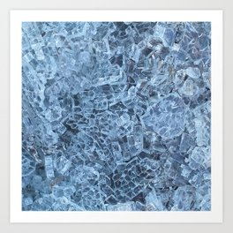 Broken Glass Abstract Pattern Art Print