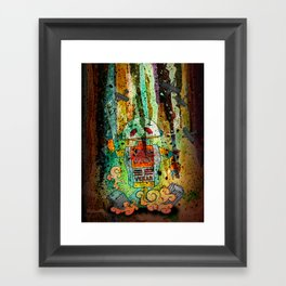 Vegan-Bot Framed Art Print