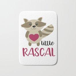 Little Rascal Raccoon Kids Cute Forest Animal Bath Mat