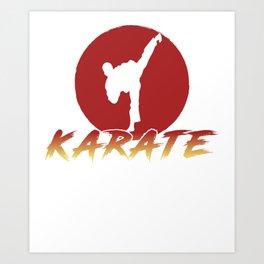 Karate Fighting Present Gift Self Defense Art Print