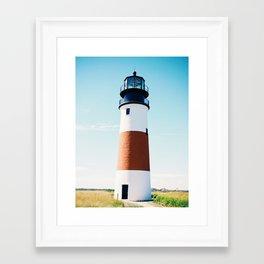 Nantucket Sconset Lighthouse Framed Art Print