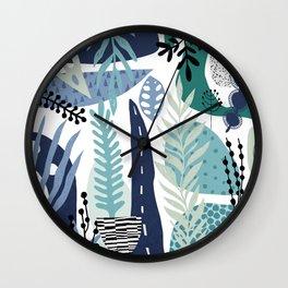 Flower Composition Jungle Boogie Wall Clock