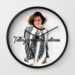 Telling inspiring stories Wall Clock