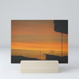 My sunset view! Mini Art Print