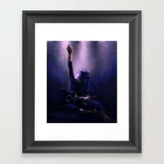 Hold on to my heart  Framed Art Print