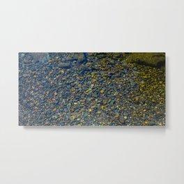 Water & Stones Metal Print