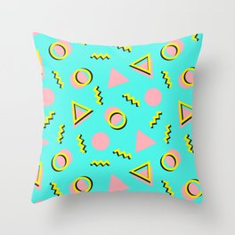 Memphis pattern 61 Throw Pillow