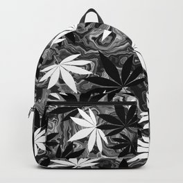 Black And White Weed Backpack