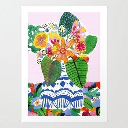 Abstract Flower Bouquet Art Print