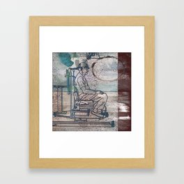 Human Chain Framed Art Print