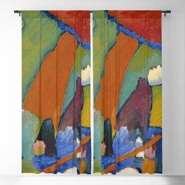 "Wassily Kandinsky ""Beach Scene"" (1909) Blackout Curtain"